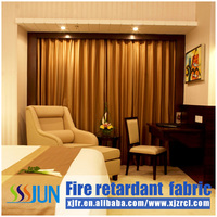 2015 flame retardant curtain fabric, elegant euro-classic curtain