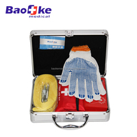 Professional first aid kit with a basic medical care bag for car emergencies