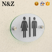 NZ M85 WC Bathroom High Quality Acrylic Clear Toilet Door Sign