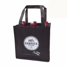 china supplier best selling items tote bag custom logo printing non woven wine bag for 6 bottle