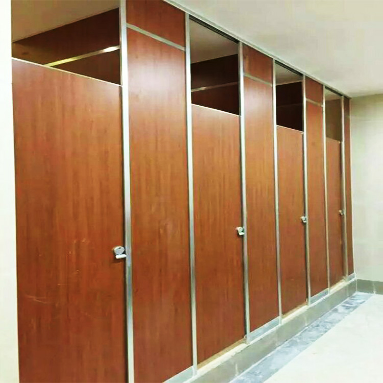 cheap hpl waterproof wood grain compact grade laminate toilet partition board or bathroom partition