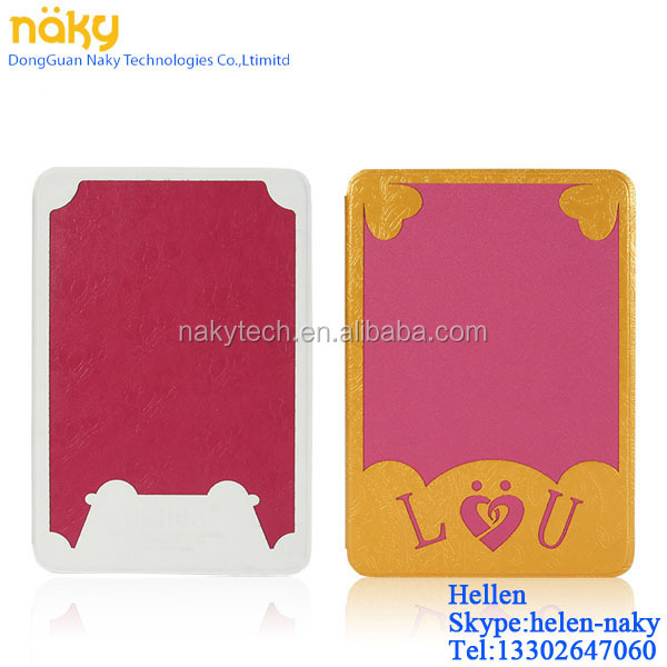 New design factory sell PU standing case with PC shell for ipad 6/mini,for ipad 2/3/4/5