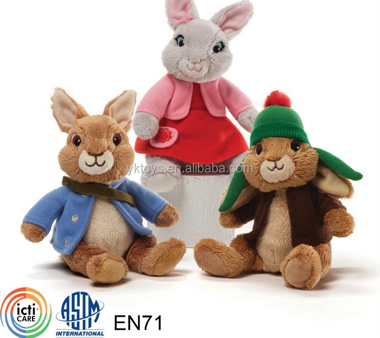 Lovely peter rabbit plush toy doll