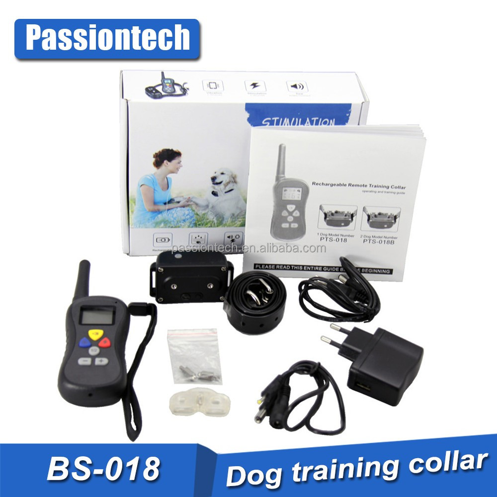 Wholesale Hot New Remote Dog Training E Collar, 16 Static Vibra Two Dog Shock Collar with Blue Back Light LCD Display