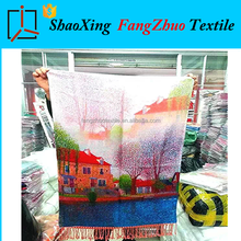 NO MOQ! silk scarves chinoiserie own factory own custom