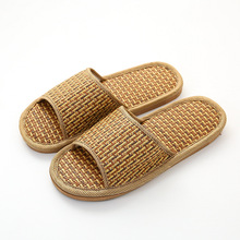 Bamboo woven rattan grass woven cool slippers summer couples non-slip home indoor wooden floor MATS for men and women slippers