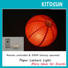 Remote controlled brand new10 RED SMD LED paper lantern light