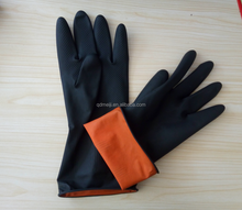 Cheap long latex household rubber gloves for cleaning