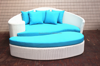 White Rattan Outdoor Daybed from manufacturer