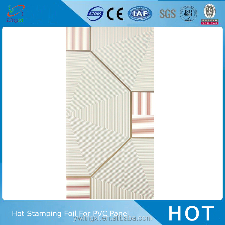 Jinhua new style PVC ceiling panel laminated paper for wall
