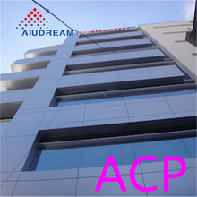 Aludream hot sale aluminum plastic composite panel trailer panels for walls