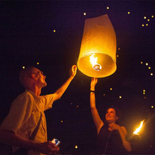 Biodegradable Flying No Flame Paper Sky Lanterns