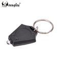 Factory Price Mini Portable Rhombus Plastic Flashlight LED Keychain