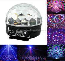 Crystal Magic Ball 6 color Rotating Strobe Disco Stage Christmas LED RGB Ball Light