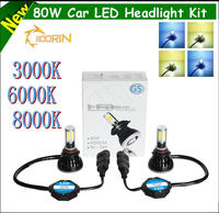 Guangzhou Wholsale car luxeon led headlight h1 h3 h4 h7 h11 h13 5202 9012 880 881 led headlight kits for car