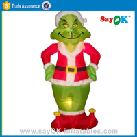 new products 2016 christmas ornament inflatable christmas grinch for sale