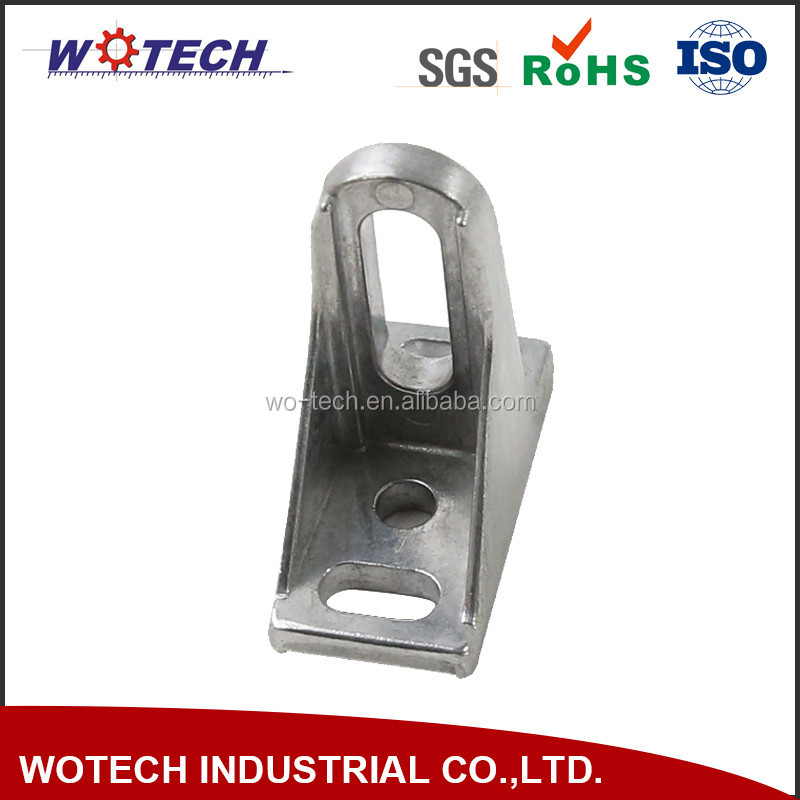 Customized industrial die casting aluminum ADC12 tension bracket part