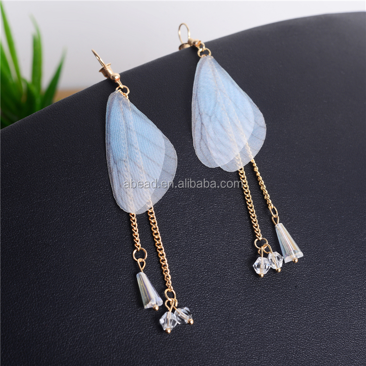 Fashion Jewelry 2017 New Model Butterfly Wing Drop Earrings Women