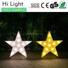High quality unique led star gifts starry shape christmas led light wood light