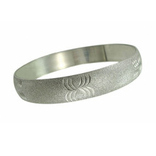 Factory direct sale stainless steel sandblasting bangle bracelet for men and women indian bangles sex bangle