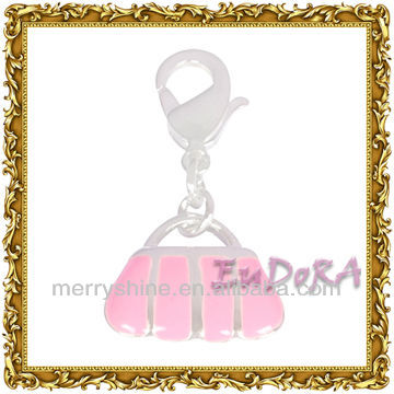 Popular silver jewelry <strong>charms</strong>/ fashion bag design pendant