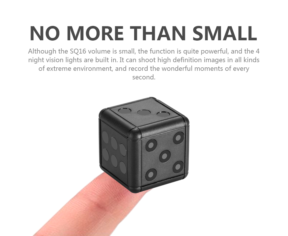 SQ16 1080P Mini Dice Disguise Camera Hd Candid Hidden Spy Camera