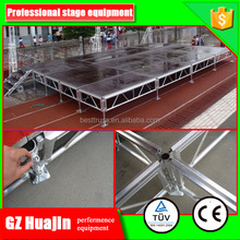 Hot sell cheap aluminum removable mobile stage for sale