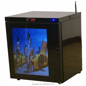 Customizable Transparent LCD Screen Door Display Fridge With Wifi, USB, Remote Control and Speaker