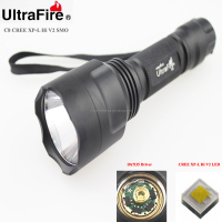 Ultrafire C8 1xCREE XP-L HI V2 1600lm Cool White Light 10x7135 Driver 1-Mode SMO LED Flashlight (1 x 18650)