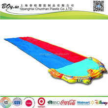 factory hign quality OEM two sliders grassland games Swimline Super kids pool play toys inflatable pvc dual waterslide