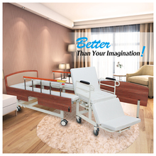 disabled use electric medical adjustable elderly care hospital bed with wheelchair