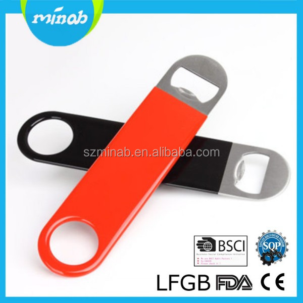 Amazon Hot Selling Kitchen Gadget Rubber Coated Stainless Steel BEER Bottle Opener