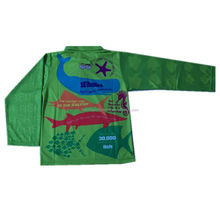 sublimation printing quick dry wholesale polyester kids fishing shirt