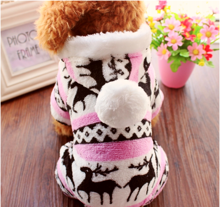 Dog Pet Winter Soft Warm coral velvet Coat/Dog Clothes/Coat for Christmas Costumes Pet Christmas