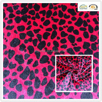 polyester spotted velvet fabric for sofa/garments