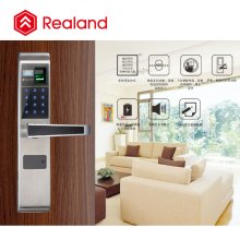 Realand F1 Stainless Steel material electronic door lock fingerprint locker lock China smart door lock manufacture