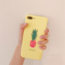 Factory Price Cheap Pineapple Printing Matte Hard PC Phone Case for iPhone 5 8 8plus 7 7plus 6 6plus
