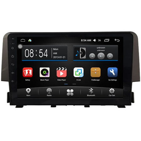"WITSON 9"" BIG SCREEN ANDROID 6.0 CAR DVD PLAYER FOR <strong>HONDA</strong> <strong>CIVIC</strong> 1.5T HIGH 2016"