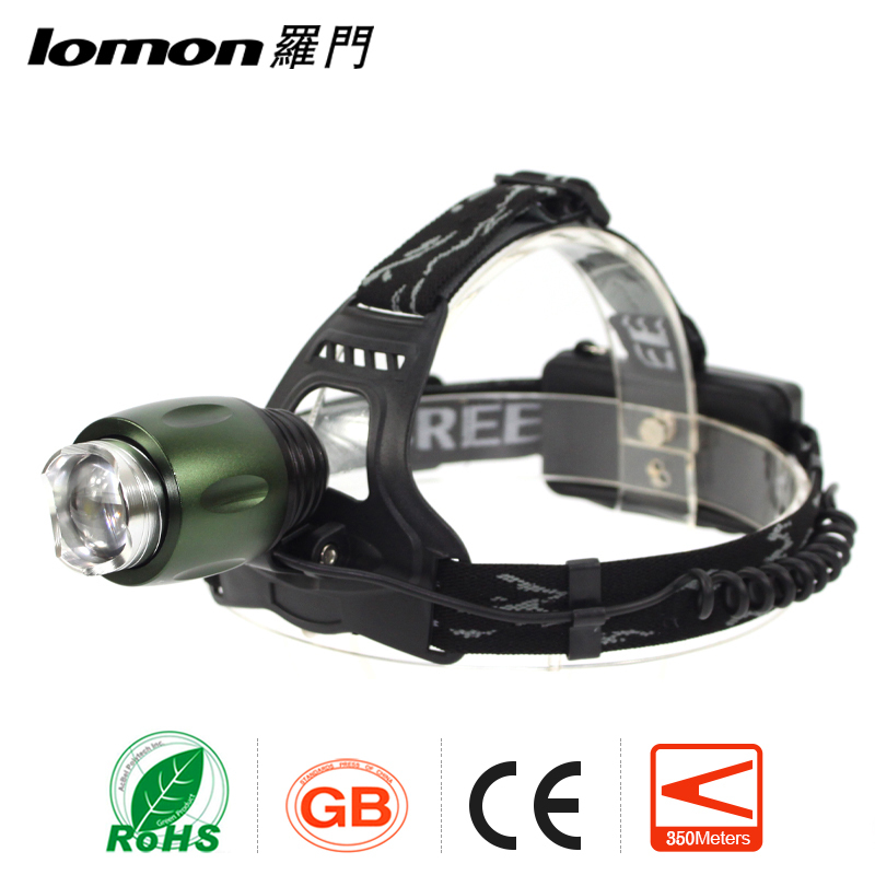 Factory Custom XM-L T6 10W Outdoor Camping Waterproof Rechargeable Cheap Miners Led Head Lamp