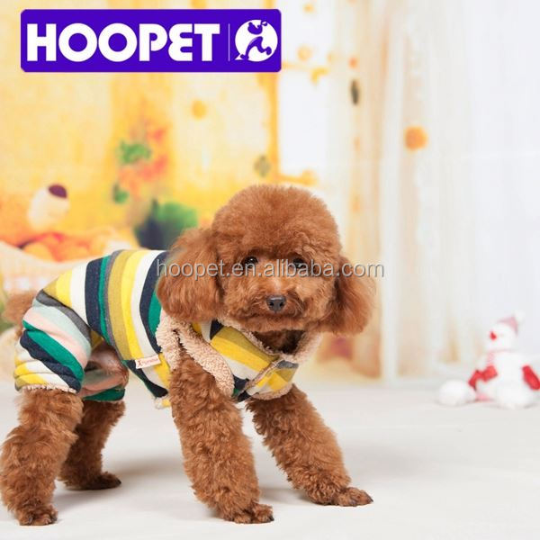 Hoopet Cold-resistant rainbow dog clothes clothing for dogs
