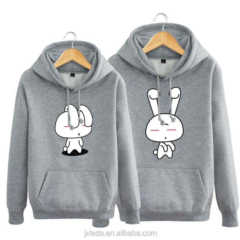 Boys member cute cartoon images printed korean style lovers fleece hoodies black white red hoodie plus size