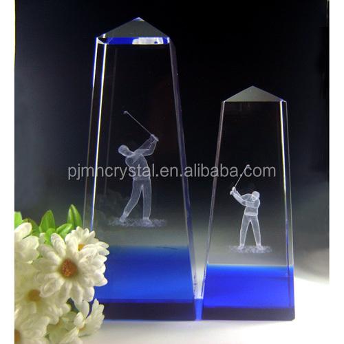 luxury new arrive crystal trophy crystal plaque for sports award crystal glass award souvienir MH-JB0043