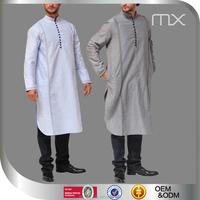 High Quality Pure Color Men Tops Pretty Design Islamic Clothing In Dubai 2016