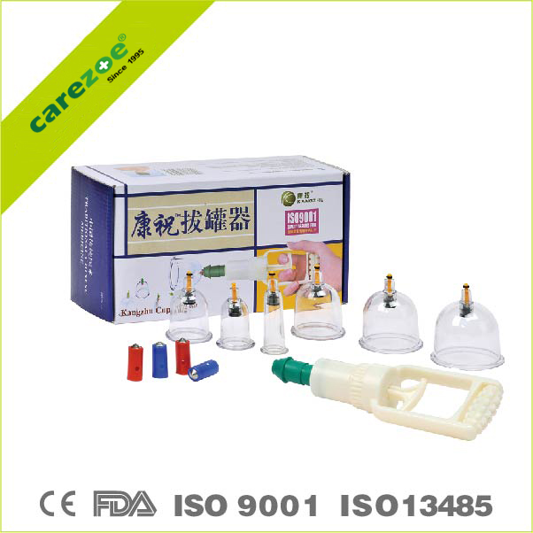 Chinese NO.1 Carezoe(kangzhu) vacuum cupping kits hijama suction cup B1X6 CUPS cupping