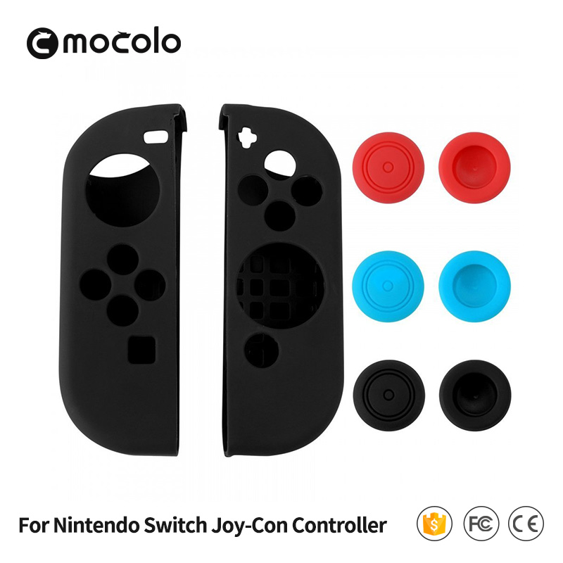 Wholesale Price Top A Quality Soft Silicone Back Cover Case for Nintendo Switch Controller Silicone Case