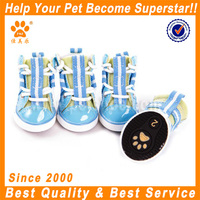 2014 JML red PU boot for dog mesh pet shoes