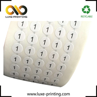 Printed your design Xiamen round shape eyelash boxes seal stickers