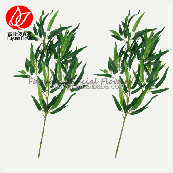 150421 china factory direct sale home decor green decorative artificial plant bamboo stem