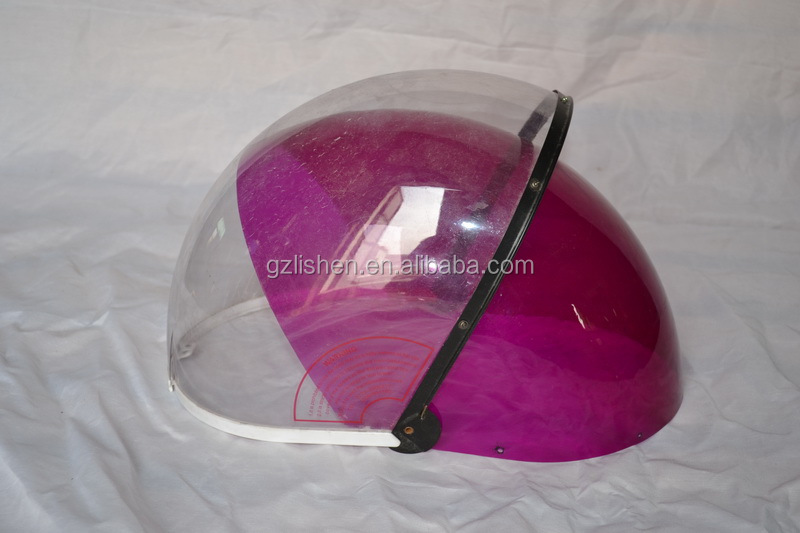 nice pc polycarbonate custom made transparent motorcycle helmet