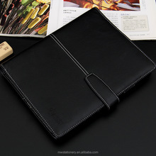 Xinghao promotion high quality notepad hardcover business notebook business gifts leather notebook with name card holder inside